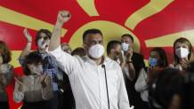μεγάλος νικητής των εκλογών στη Βόρεια Μακεδονία αναδείχθηκε ο Ζόραν Ζάεφ