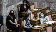 Μάσκες στη Βουλή