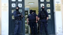 αντιτρομοκρατική έξω από το γραφείο του εισαγγελέα