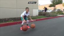 oχτάχρονος με ικανότητες στο μπάσκετ