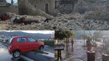 Ζημιές από τον σεισμό στη Σάμο