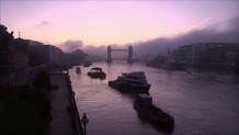 μωβ ουρανός στο Λονδίνο