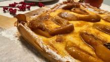 Ανοιχτή πίτα με κρέμα και μήλα, με φύλλο κρούστας για γλυκά