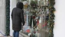 κατάστημα με χριστουγεννιάτικα