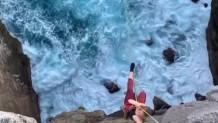 ελεύθερη πτώση πάνω από Ωκεανό