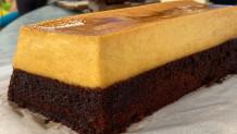 σοκολατένιο cake με κρέμα καραμελέ