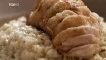 Cook Beef: Μπαλοτίνα από μπούτι κοτόπουλο & Ριζότο