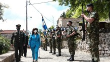 H Κατερίνα Σακελλαροπούλου στη Χίο