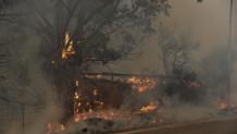 Μεγάλη φωτιά στην Αχαΐα: Στις φλόγες Ζήρια, Καμάρες, Λαμπίρι