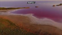 ροζ λίμνη Ουκρανία