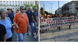 Συγκέντρωση διαμαρτυρίας πυρόπληκτων στο Σύνταγμα