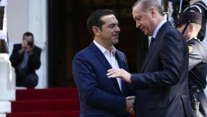 O Αλέξης Τσίπρας και ο Ταγίπ Ερντογάν στο Μαξίμου