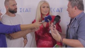 Η Μαρία Μπακοδήμου στην παρουσίαση προγράμματος του ΣΚΑΙ