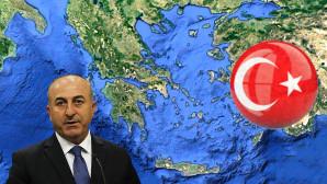 Χάρτης Ελλάδας και Μεβλούτ Τσαβούσογλου