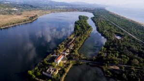 Η λίμνη Καϊάφα από αεροφωτογραφία