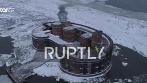 """Το φρούριο """"Αλέξανδρος Ι"""" στην Αγία Πετρούπολη από drone"""