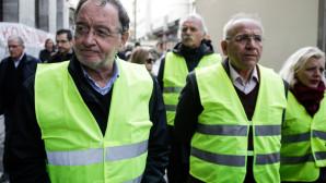 Παναγιώτης Λαφαζάνης Παρίσι «Κίτρινα Γιλέκα»