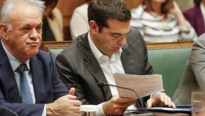 O Αλέξης Τσίπρας στο υπουργικό συμβούλιο