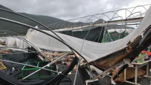 καταστροφές από ανεμοστρόβιλο στη Ζάκυνθο