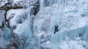 Αναρρίχηση στον πάγο στον Λαϊλιά Σερρών