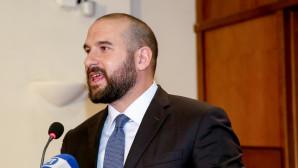 Ο Δημήτρης Τζανακόπουλος μιλά σε εκδήλωση