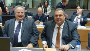 Κοτζιάς και Καμμένος σε κοινή συνεδρίαση των Υπουργών Άμυνας και Εξωτερικών