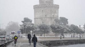 Χιόνι στον Λευκό Πύργο