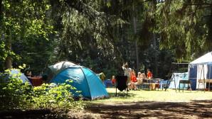 Κατασκήνωση στο δάσος