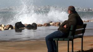 Παραλία Φαλήρου ισχυροί άνεμοι