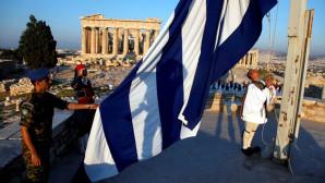 Έπαρση σημαίας στην Ακρόπολη