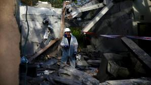 κατεστραμμένο σπίτι στο Ισραήλ από επίθεση με ρουκέτα