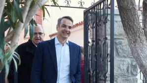 Ο Κυριάκος Μητσοτάκης σε επίσκεψη στη Λήμνο για την 25η Μαρτίου