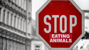 """σήμα """"Stop eating animals"""""""