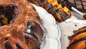 cake βανίλια-σοκολάτα