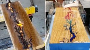 δημιουργήματα πάνω σε ξύλο