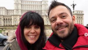Ο Ευτύχης Μπλέτσας και η σύντροφός του, Ηλέκτρα Αστέρη
