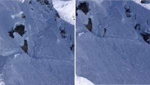 snowboarder τρώει τούμπα