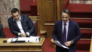 Τσίπρας και Μητσοτάκης στη Βουλή
