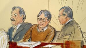 σκίτσο του Ρανίερ μέσα από τη δικαστική αίθουσα