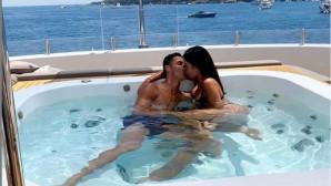 Ο Ρονάλντο με τη σύντροφό του στο τζακούζι