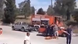 Μετέφεραν τραυματία με καρότσα αγροτικού
