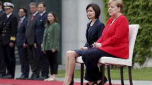 Η Μέρκελ και η πρωθυπουργός της Μολδαβίας