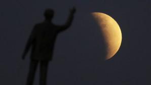 στιγμιότυπο από την έκλειψη της Σελήνης