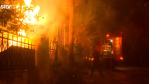 εικόνες από τη φονική πυρκαγιά στο Μάτι