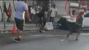 στιγμιότυπο από τις συγκρούσεις στο μοναστηράκι