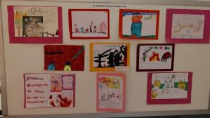 ζωγραφιές παιδιών για το Μάτι