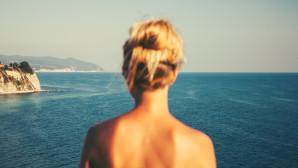 γυναίκα παραλία