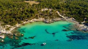 παραλία Καβουρότρυπες στη Χαλκιδική