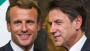 O πρόεδρος της Γαλλίας Εμανουέλ Μακρόν και ο Ιταλός πρωθυπουργός