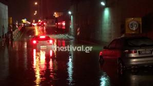 Εγκλωβίστηκαν οδηγοί στον Εύοσμο λόγω βροχής